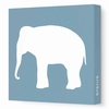 Elephant Silhouette Canvas Wall Art