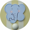 Elephant Wall Peg - Set of Two