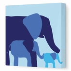 Elephants Canvas Wall Art II