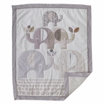 Elephants Crib or Toddler Quilt