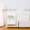 Elephants in Light Grey Wall Decal