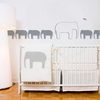 Elephants in Medium Grey Wall Decal