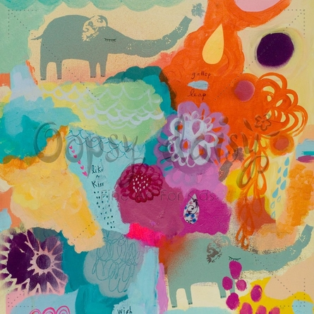 Elephants on Parade Canvas Wall Art