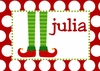 Elf Stockings Personalized Christmas Puzzle