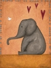 Eli Elephant Canvas Reproduction