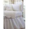 Elisa White Crib Skirt