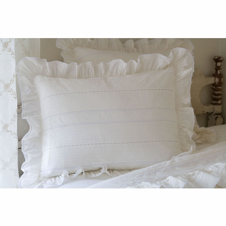 Elisa White Pintuck Duvet Cover