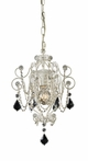 Elise One Light Mini Chandelier in Antique White