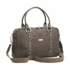 Elizabeth Leather Diaper Bag in Walnut