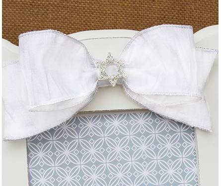 Elizabeth White Scalloped Picture Frame