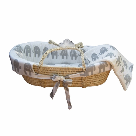 Elle Elephant Moses Basket Set