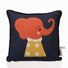 Elle Elephant Organic Cotton Throw Pillow