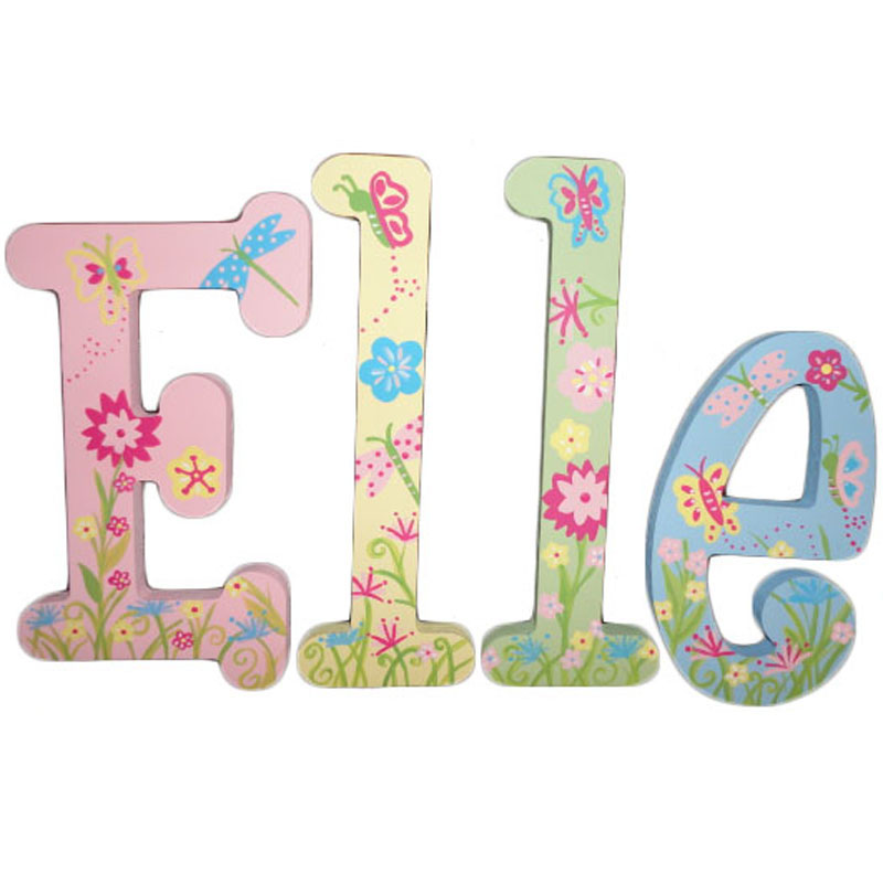 Elle Springtime Hand Painted Wall Letters