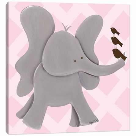 Ellie Elephant in Pink Canvas Reproduction
