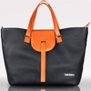 Ellie Leather Tote Diaper Bag in Black