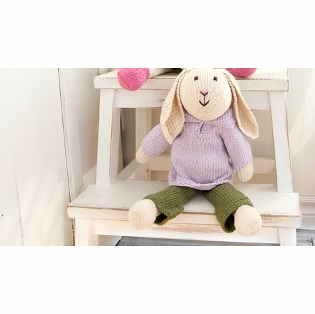 Ellis Bunny Hand-Knit Organic Stuffed Toy