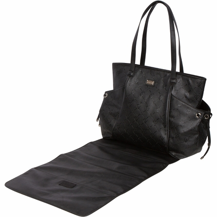 Embossed Black Diaper Bag
