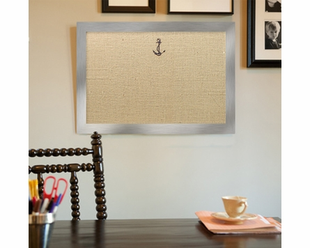 Embroidered Icon Bulletin Board With Lacquer Frame