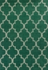 Emerald and Ivory Quatrefoil Rug