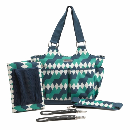 Emerald Lagoon Tag-a-Long Tote Diaper Bag