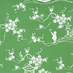 Emerald Pagoda Fabric by the Yard