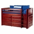 Emerson Low Loft Bed with Dressers