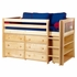 Emerson Low Loft Bed with Dressers and Bookcase