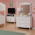 Emma 4 Drawer Dresser with Mirror in White