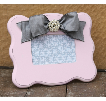 Emma Pink Scalloped Picture Frame