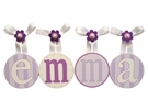 Emma's Lavender Hand Painted Round Wall Letters