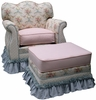 Empire Rocker Glider Chair - Blossoms & Bows