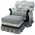 Empire Rocker Glider Chair - Toile Black