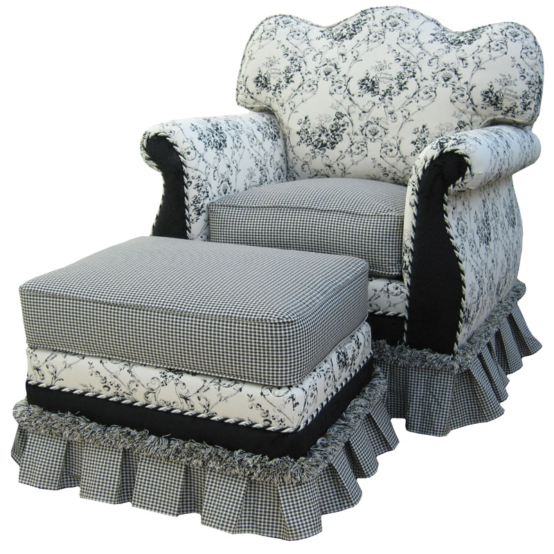 Empire Rocker Glider Chair Toile Black By Angel Song