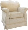 Empire Rocker Glider - Versailles Cream Velvet