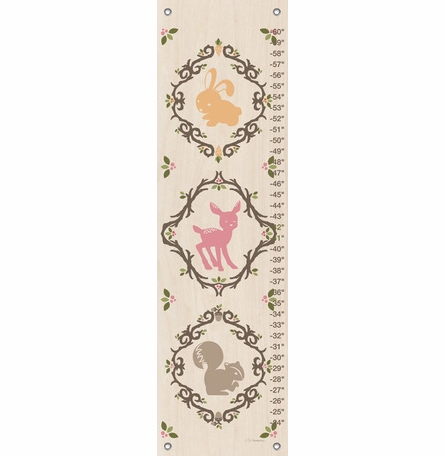 Enchanted Forest Animals Growth Chart