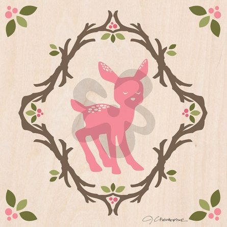 Enchanted Forest Fawn Canvas Wall Art
