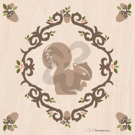 Enchanted Forest Squirrel Canvas Wall Art