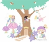 Enchanted Tree House Paint by Number Wall Mural