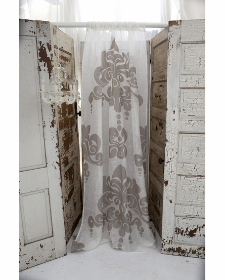 Enchantique Ivory Linen Window Curtain