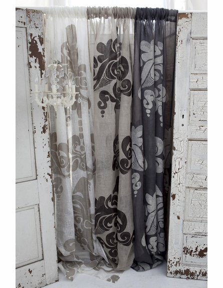 Enchantique Slate Grey Linen Window Curtain