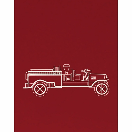 Engine No. 2 Fire Truck Art Print