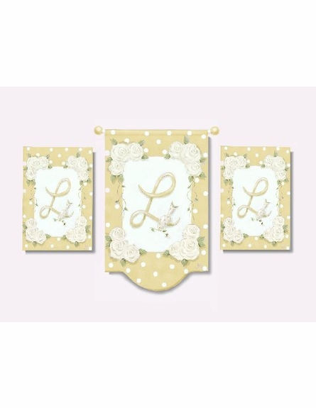 English Garden Initial Wall Hanging