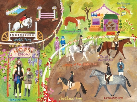 English Horse Show Canvas Wall Art