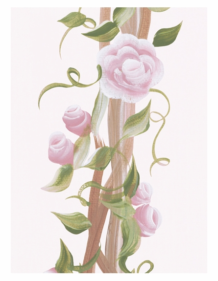 English Rose Arbour Personalized Wall Hanging