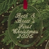 Engraved Oval Acrylic Ornament