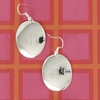 Engraved Silver Plated Oval Earrings on French Wire