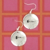 Engraved Silver Plated Round Earrings on French Wire