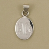 Engraved Sterling Silver Small Oval Pendant