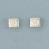 Engraved Sterling Silver Small Square Earrings