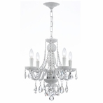 Envogue Four Light Wet White Mini Chandelier